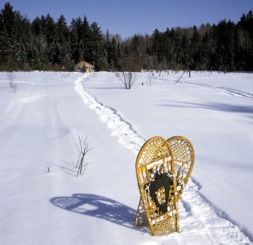 Snowshoes and Yurt, Ely